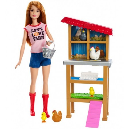 BARBIE CHICKEN FARMER PLAYSET